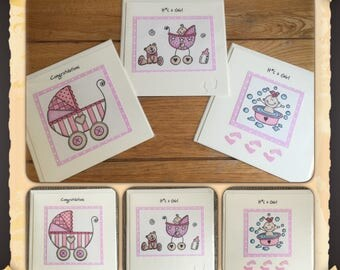 New baby girl cards - 3 designs to choose from - Little kids treasures