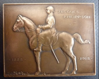 Belgium WW1 Officers Memorial Death Plaque. Sub Lieutenant Jacques Philippson Killed At The Front On 22nd May 1918