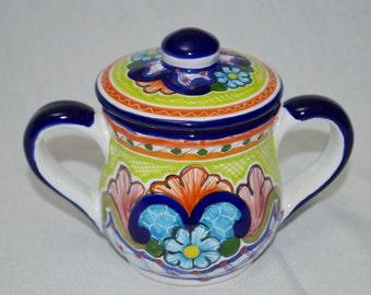 Talavera Sugar bowl- Hand Painted