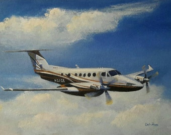 Custom airplane painting. Painting from your photo. Custom art. Aviation art. Plane painting. Aviation portrait. Plane portrait.