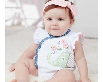 MudPie Elephant Kimono Crawler, Baby Girl, Elephant Outfit, Girl