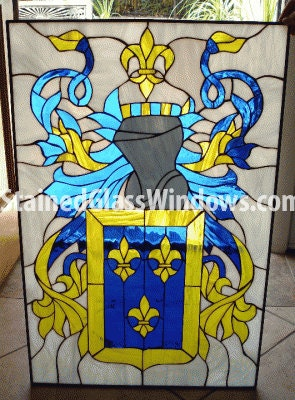 Coat Of Arms Personalized With Your Name Stained Glass
