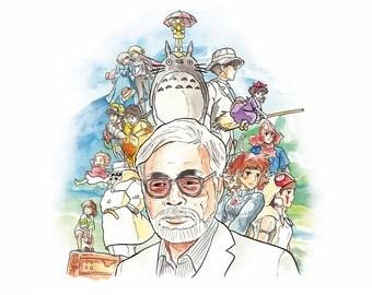 Hayao Miyazaki Medium Postcard