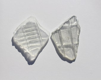 Clear Sea Glass Large Sea Glass Young Sea Glass Beach Find