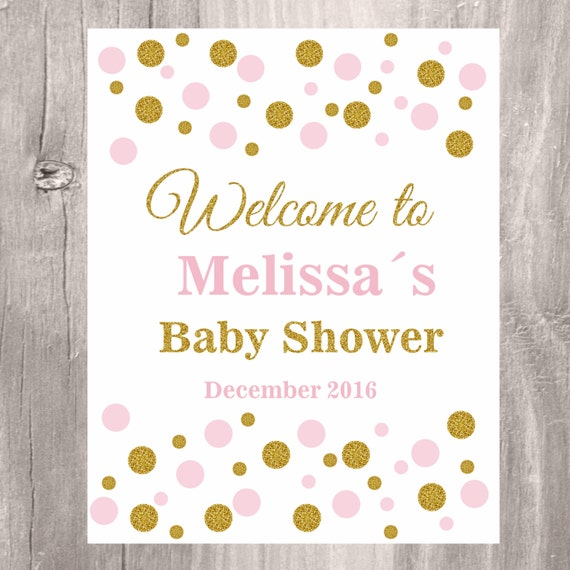 baby shower welcome sign baby shower decoration baby girl