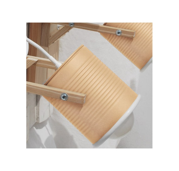 Wall lamp/ sconce light, mat salmon color , eco friendly and handmade: recycled from tomato can! OFFER for more units! ( 2 - 10 )
