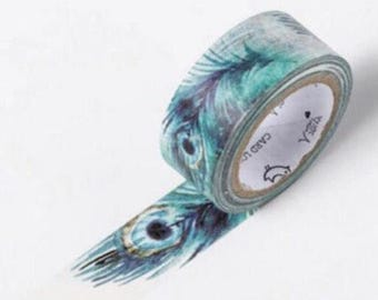 Washi tape, peacock