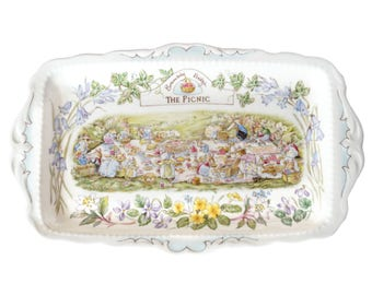 The Picnic sandwich tray - Royal Doulton Brambly Hedge