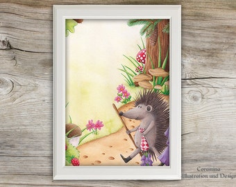 Artprint hedgehog