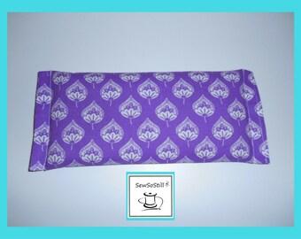 Eye Pillow, Lavender Eye Pillow, Organic Flax Seed, Organic Lavender, Yoga Eye Pillow, Lavender Leaves