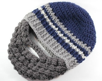 Teen Mens Gift- Beard Hat- Lumberjack Birthday- Beard Beanie- Outdoorsy Gift- Guy Gifts- Baby Beard Hat- Hat with Beard- Snowboarding Gifts