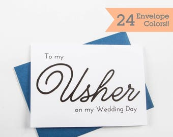Usher Thank You Card, Usher Card, On My Wedding Cards (WC113-PL)