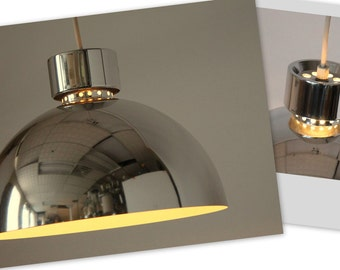 70s VENTED CHROME CHANDELIER in the style of Lightolier , Usa