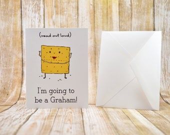 You're A Grandma Card, Pregnancy Announcement Card, You're a Gram Card, Baby Announcement, Cute Baby Announcement