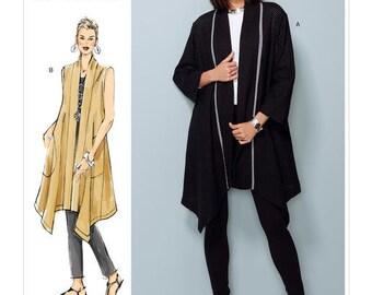 Vogue Pattern V1540 Misses' Bnaded Coat and Vest