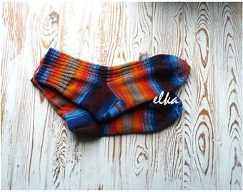 "Socks knitted Motive (сolour #12) / Носки вязаные ""Мотив"" (цвет #12)"