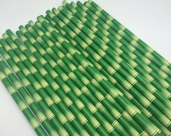 25pc Paper Straws Bamboo