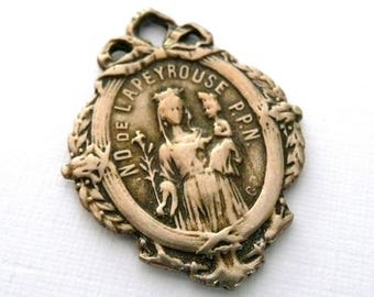 Vintage French Medal of Our Lady of Lapeyrouse