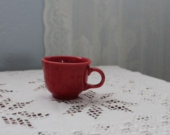 Fiestaware red tea cup