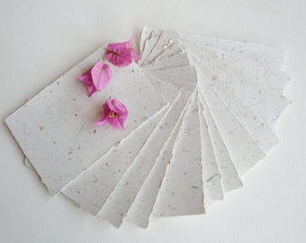 "4 x 6"" Recycled Paper, Handmade Paper, Petals, Flowers, Typewriter Paper, Poetry Paper, Calligraphy Paper, Letter Paper, Floral Paper"