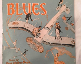 Vintage Dangerous Blues; 1921 Sheet Music; Very Good Condition; Great Graphics