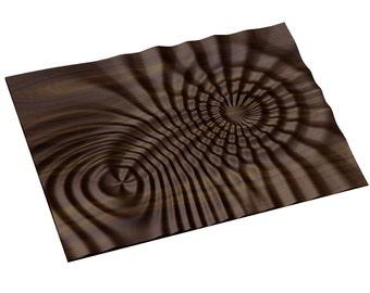 Decorative abstract 3D relief op art sculpture model for CNC machining Flow 7793