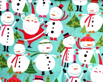 Merry Snowmen fabric from the Winter Wonderland collection by David Walker for Freespirit