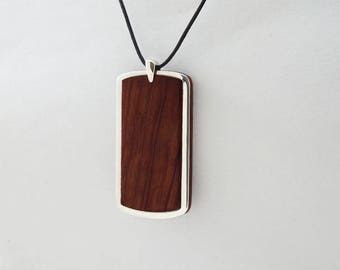 PENDANT IDENTITY Wooden High quality Handmade Jewelry by Silver 925 and Rosewood