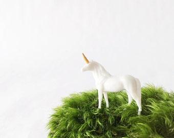 Unicorn Terrarium Figurine, Handmade Unicorn, Unicorn Figurine, Miniature Unicorn, For Terrarium kit, gift, or desk