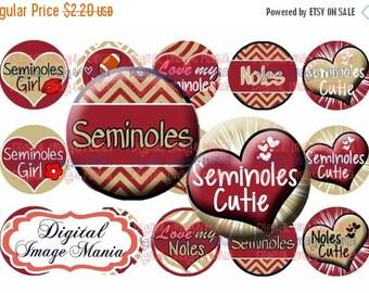 INSTANT Download Seminoles 4x6 Digital Printable 1 Inch Circle Bottle Cap Images (103)