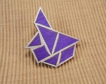 Brooch, tangram, symmetrically (758)