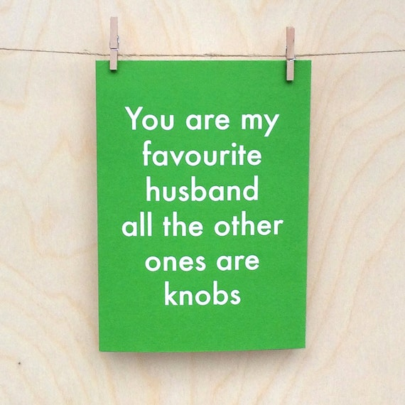 Funny Husband card, funny Husband birthday card, funny fathers day card ???