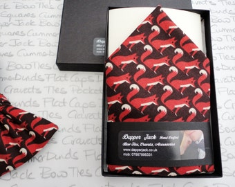 Pocket Square, top pocket handkerchief, fox print pocket sqaure