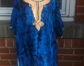 african print top tunic small-medium