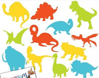 Dinosaur Silhouettes Clip art / Dinosaur Clipart