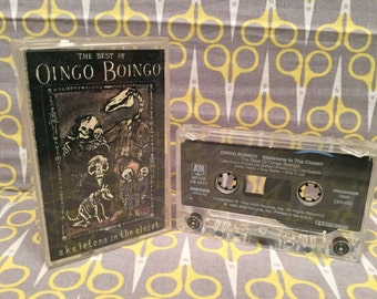 Skeletons in the Closet by Oingo Boingo Cassette Tape rock pop alternative