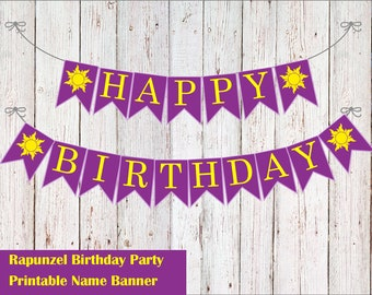 Rapunzel Birthday Banner DIY