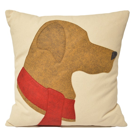 Yellow Lab Decorative Pillows : 21 Yellow Labrador Pillow Yellow Lab Holiday dog