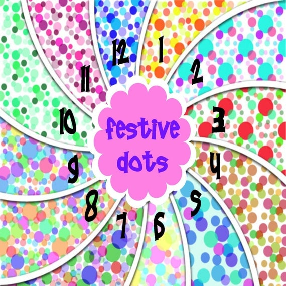 Festive Dots Adhesive 651 Vinyl, HTV or Glitter HTV. Choice of 3 sizes. 6x6, 6x12 or 12x12. Decals HTV. Adhesive. Easter