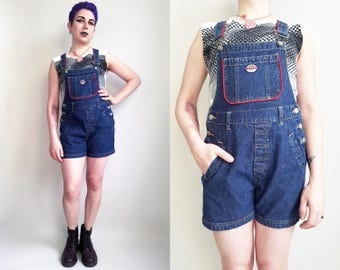 90s Clothing Denim Overalls Medium Wash Overalls Shortalls Short Overalls Fitted Overalls 90s Clothing Size Small Squeeze Jeans