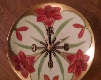 Orange Tigerlily 8 1/2 Inch Clock -