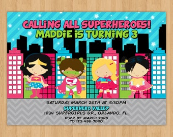 Supergirls Birthday Invitation