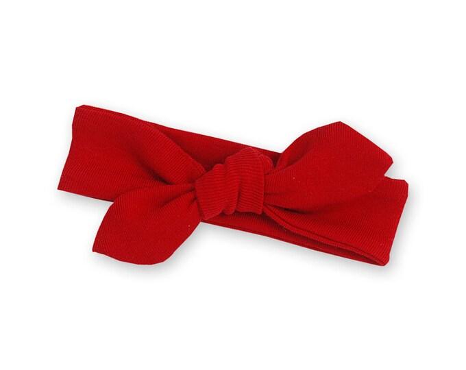 Newborn Headband Bow, Baby Headband Red, Newborn Baby Headwrap, Baby Girl Bow Headband, Baby Knot Headband, Red Headbands, Tesababe