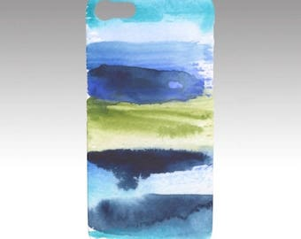 Original Abstract Watercolor Art Print - Stripe 1B Phone/Tech case