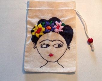 Frida Drawstring Pouch