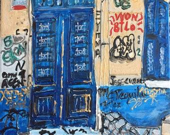 Graffiti Art in Plaka Athens, Greece