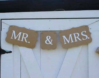 WEDDING - Spouse & Spouse Banner - MRS and MRS Banner - Mr and Mrs Banner - Mr and Mr Banner - Wedding Banner - Wedding signs
