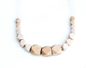 Natural Geo - Wooden Beaded Necklace