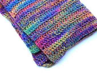 Rainbow Afghan Lap Blanket