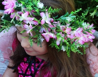 RTS-Pink Blossoms Flower Wreath
